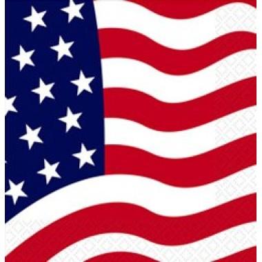 Amerikai zászlós parti szalvéta