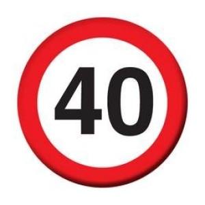 Sebességkorlátozó kitűző 40-es