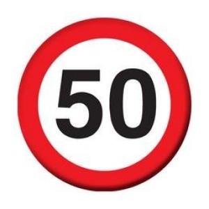 Sebességkorlátozó kitűző 50-es