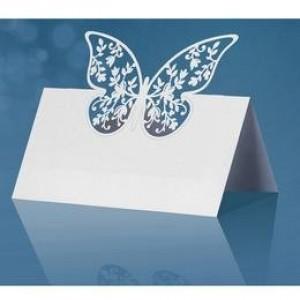 Esküvői pillangós ültetőkártya