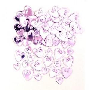 Pink szerelmes szívek konfetti