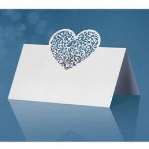 Esküvői szíves ültetőkártya
