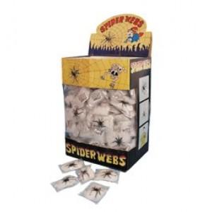 Fehér mini pókháló 1 db pókkal