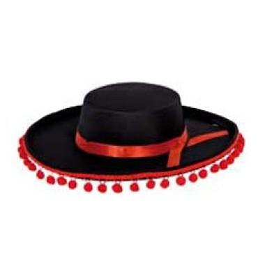 Fekete spanyol  kalap