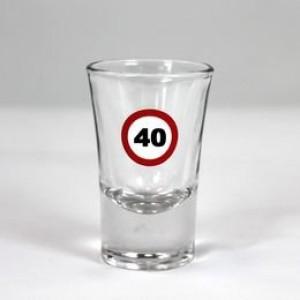 Feles üvegpohár sebességkorlátozós 40-es számmal