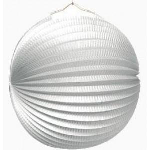 Gömb lampion 25 cm fehér
