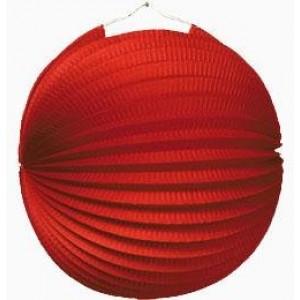 Gömb lampion 25 cm piros