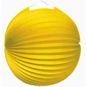 Gömb lampion 25 cm sárga