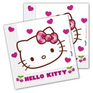 Helló Kitty szíves szalvéta