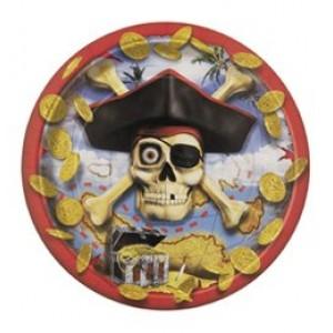 Kalóz bounty parti tányér
