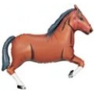 SuperShape - Sötétbarna ló fólia lufi