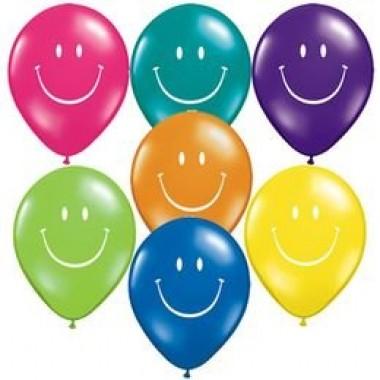 11' smile szines gumi lufi