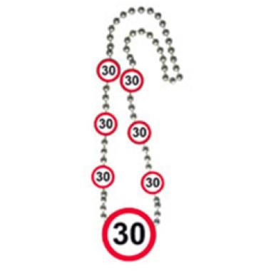Számos sebességkorlátozós nyaklánc 30-os