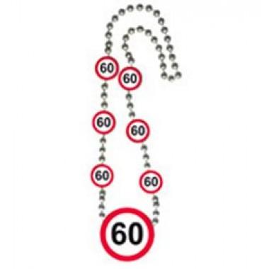 Számos sebességkorlátozós szülinapi nyaklánc 60-as