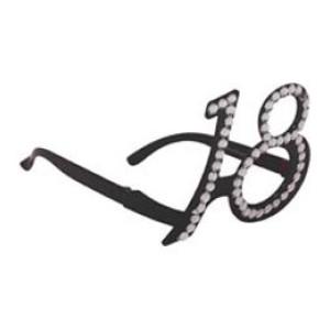 Szemüveg 18-as fekete