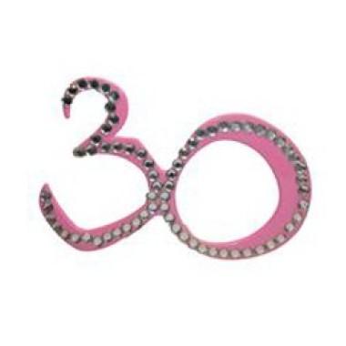 Szemüveg 30-as pink
