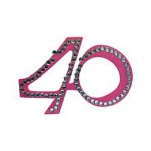 Szemüveg 40-es pink