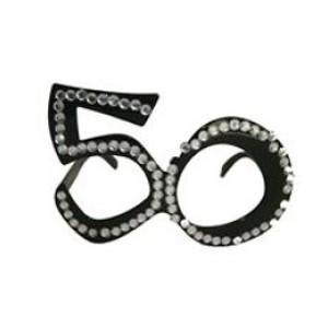 Szemüveg 50-es fekete