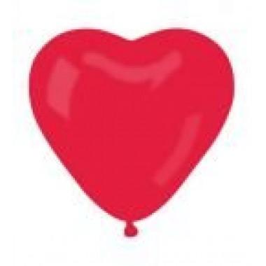 Szívforma piros gumi lufi 40 cm-es