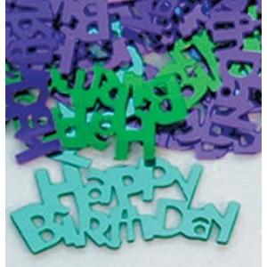 Konfetti szülinapra Happy Birthday felirattal