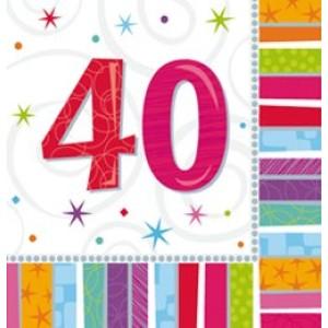 Szalvéta szülinapos 40-es
