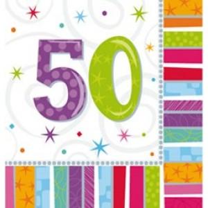 Szalvéta szülinapos 50-es