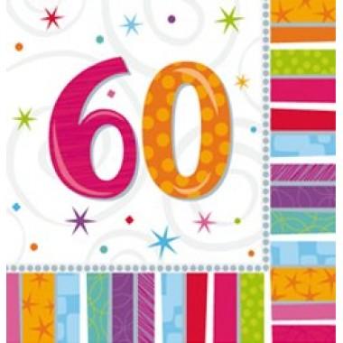 Szalvéta szülinapos 60-as
