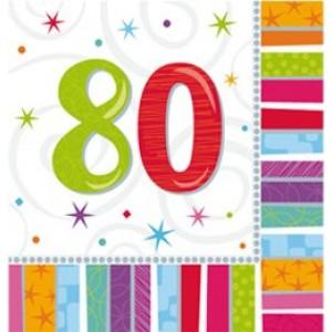 Szalvéta szülinapos 80-as