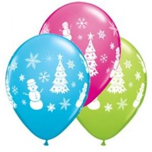 11' karácsonyi hóemberes gumi lufi