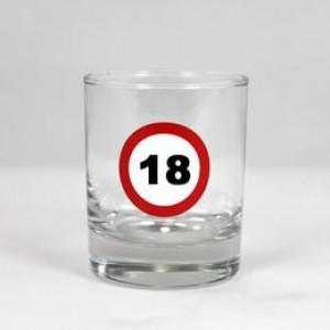 Wihskey-s üvegpohár sebességkorlátozós 18 éveseknek