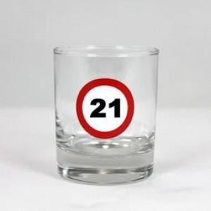 Wihskey-s üvegpohár sebességkorlátozós 21 éveseknek
