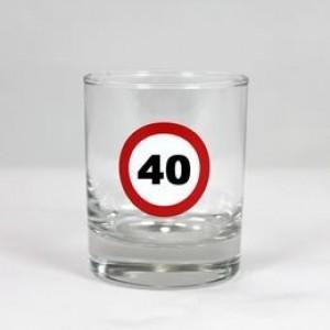 Whiskey-s üvegpohár sebességkorlátozós 40 éveseknek