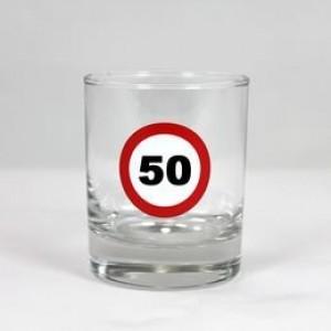 Whiskey-s üvegpohár sebességkorlátozós 50 éveseknek