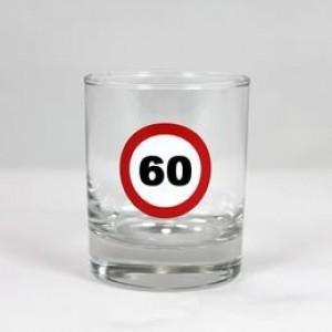 Whiskey-s üvegpohár sebességkorlátozós 60 éveseknek