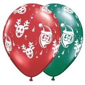 11' karácsonyi rudolf és télapó gumi lufi