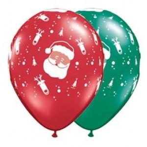 11' karácsonyi télapós gumi lufi