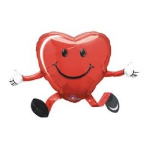 Sétáló szerelmes szív fóliás lufi