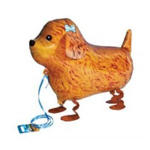 Sétáló pudli kutya fóliás lufi