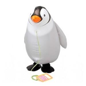 Sétáló pingvin fóliás lufi