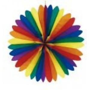 Legyező színes papír dekoráció