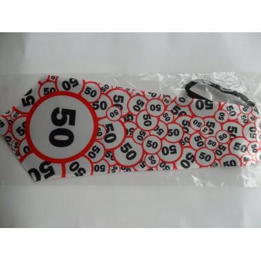 50-es sebességkorlátozós nyakkendő