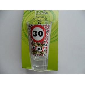 Feles üvegpohár vicces 30-as