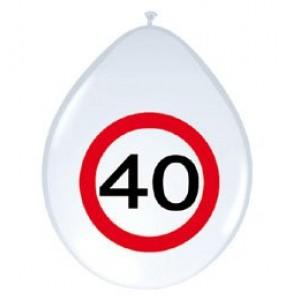 12' sebességkorlátozós 40-es számú  gumi lufi