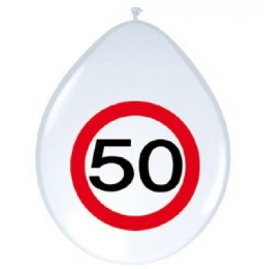 12' sebességkorlátozós 50-es számú  gumi lufi