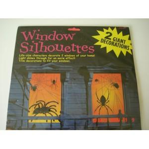 Pókos ablakdekor