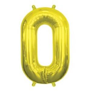 """16"""" arany 0-szám fóliás lufi"""