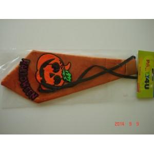 Halloweenes narancssárga nyakkendő