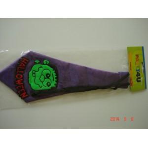 Halloweenes lila nyakkendő