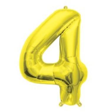16' arany fóliás 4-es számú lufi