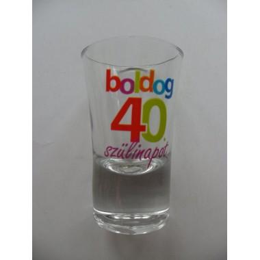 Feles pohár 40-es